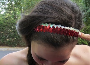 DIY Sequin Headband! Super easy to make and so cute to show your team spirit on game day! :)