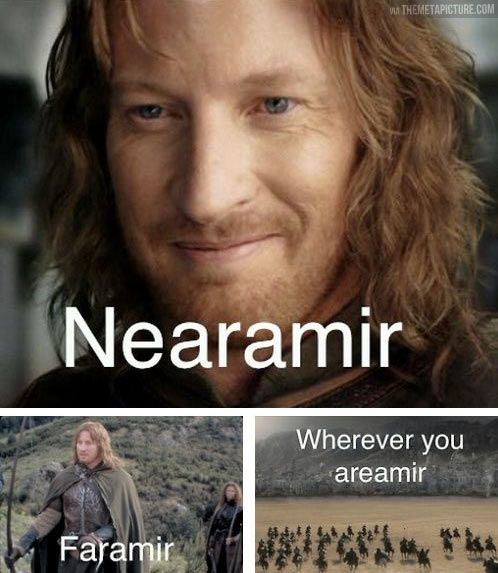 This is probably only funny at certain times of the day when a person is very tired. LOTR