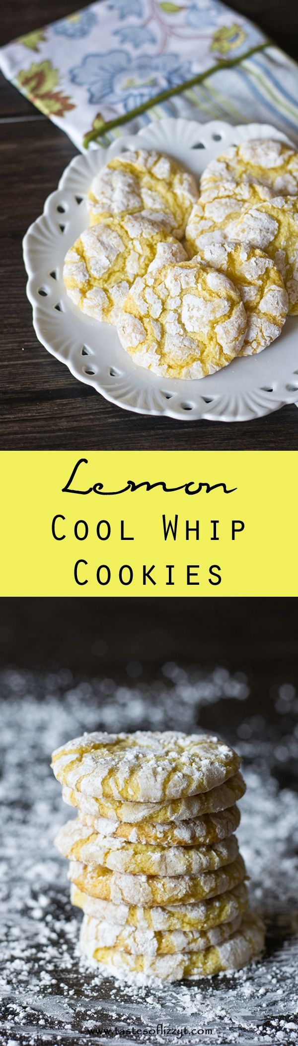 Lemon Cool Whip Cookies. 4 ingredients make up these delightfully simple Lemon Cool Whip Cookies. Make these cookies to fit any occasion by switching the flavor of cake mix!