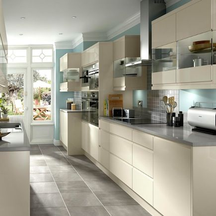 Cooke Amp Lewis High Gloss Cream Kitchen Kitchen Compare