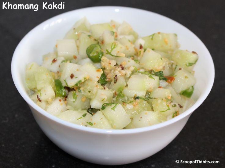 """""""Khamang Kakdi"""", also known as the Kakdi chi Koshimbir is a Maharashtrian style…"""