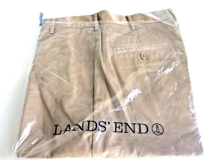 Lands End Men's Khaki Shorts Flat Front New in Package Size 30 #LandsEnd #FlatFront