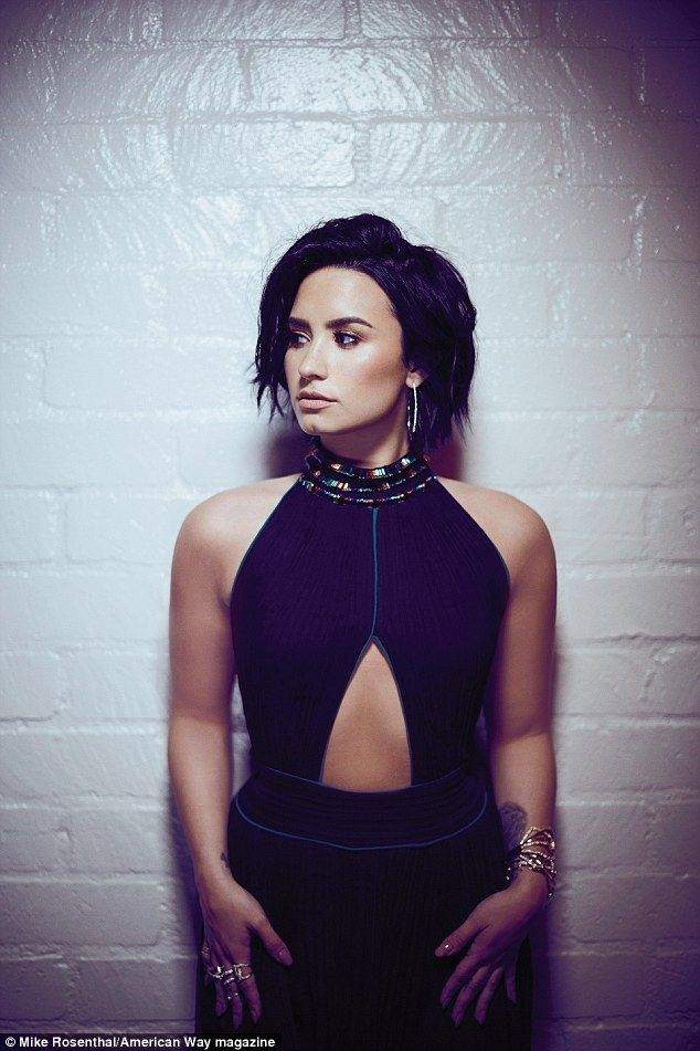 Demi Lovato talks history with substance abuse, bipolar disorder and bulimia in American Way while admitting she's still in AA | Daily Mail Online