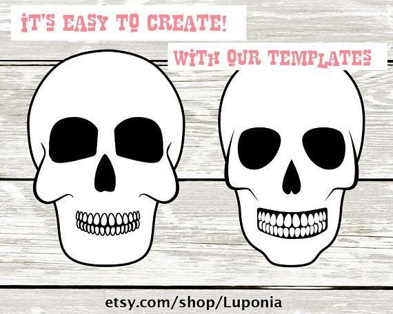 Dia de los Muertos - Mexican Skull Template to Make your ...