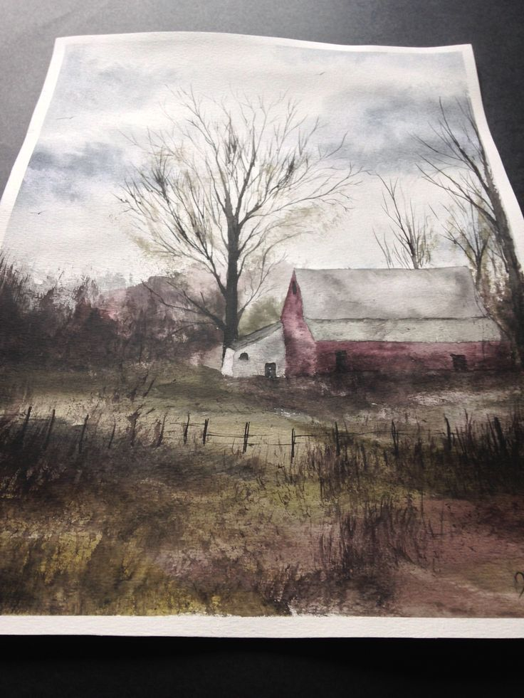Watercolor Painting / Handmade / Gift / Wall Hanging / Home Decor / Landscape