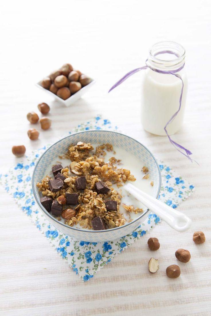 Photo de la recette : Crunchy granola noisettes chocolat