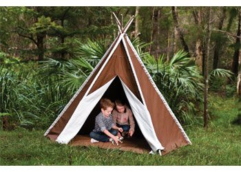 Extra Large Teepee. Inspire creative role play with this large fabric tepee.