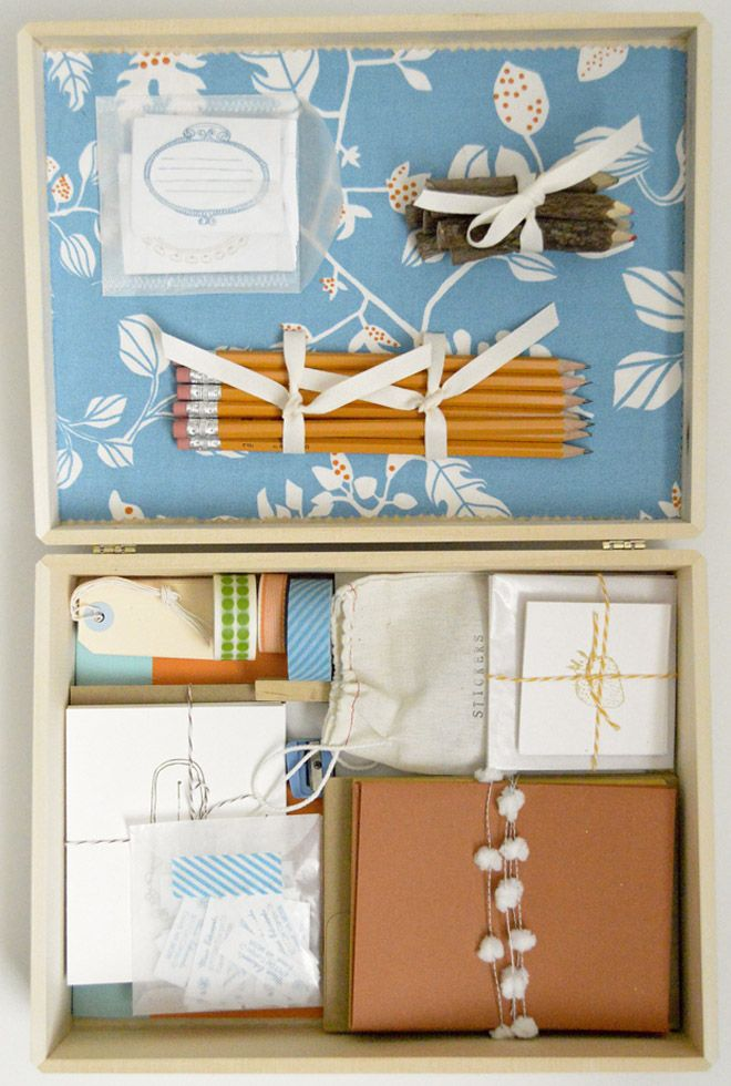 Make a letter writing kit! Great gift for a long distance friend or loved one
