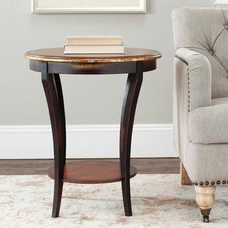 Safavieh Harrison Beidermeir Dark Brown Round Side Table | Overstock™ Shopping - Great Deals on Safavieh Coffee, Sofa
