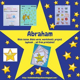 Genesis: Abraham  lesson, ideas and printables #Biblefun #OTBiblelesson