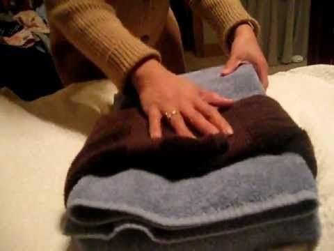 Decorative Folding for Gift: Bath Towels - YouTube