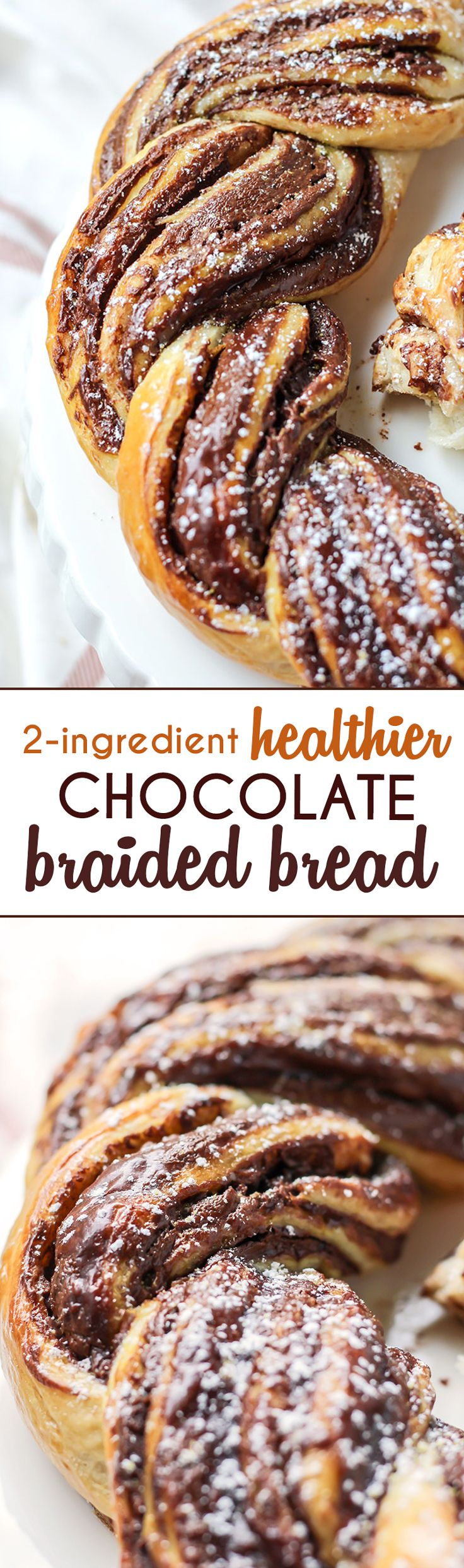 Vegan-friendly 2-Ingredient Chocolate Braided Bread  (It's easier than it looks!)
