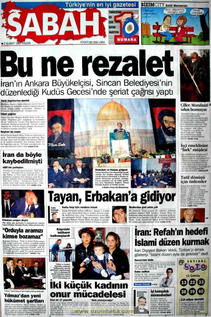 Sabah gazetesi 2 şubat 1997
