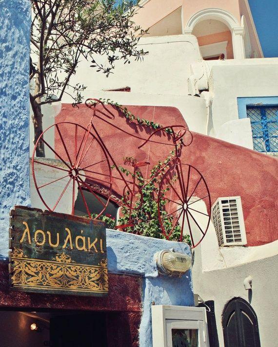red bicycle cafe, oia santorini (thira)