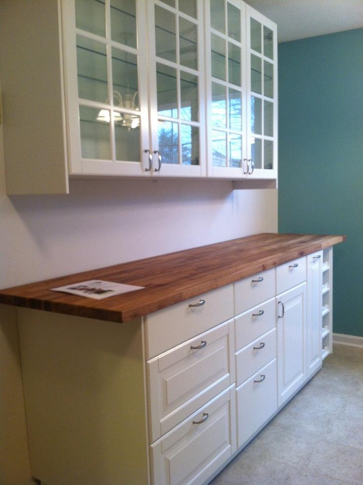 Ikea kitchen love  bottom cabinet for under window in beach condo dining room