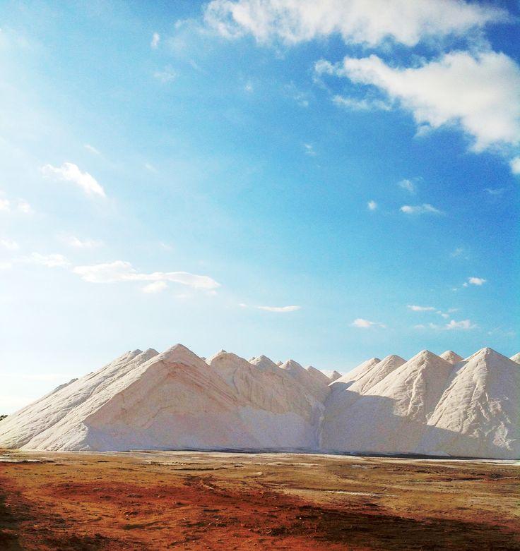 Salt mountains, Ses Salines. Mallorca, Spain