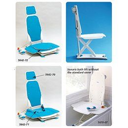 Bathmaster Sonaris Reclining Bath Lift - Headrest, Blue Cover - Model 565222 by Sammons Preston. $34.00. This item may differ from the image shown. This item may be a replacement or optional part for the image shown, or differ in model, color, etc. Please review the title and features carefully before placing your order.. This item is classified as a Hygiene Product by the manufacturer and is NOT RETURNABLE.. Combines superb functionality, outstanding performance and great d...