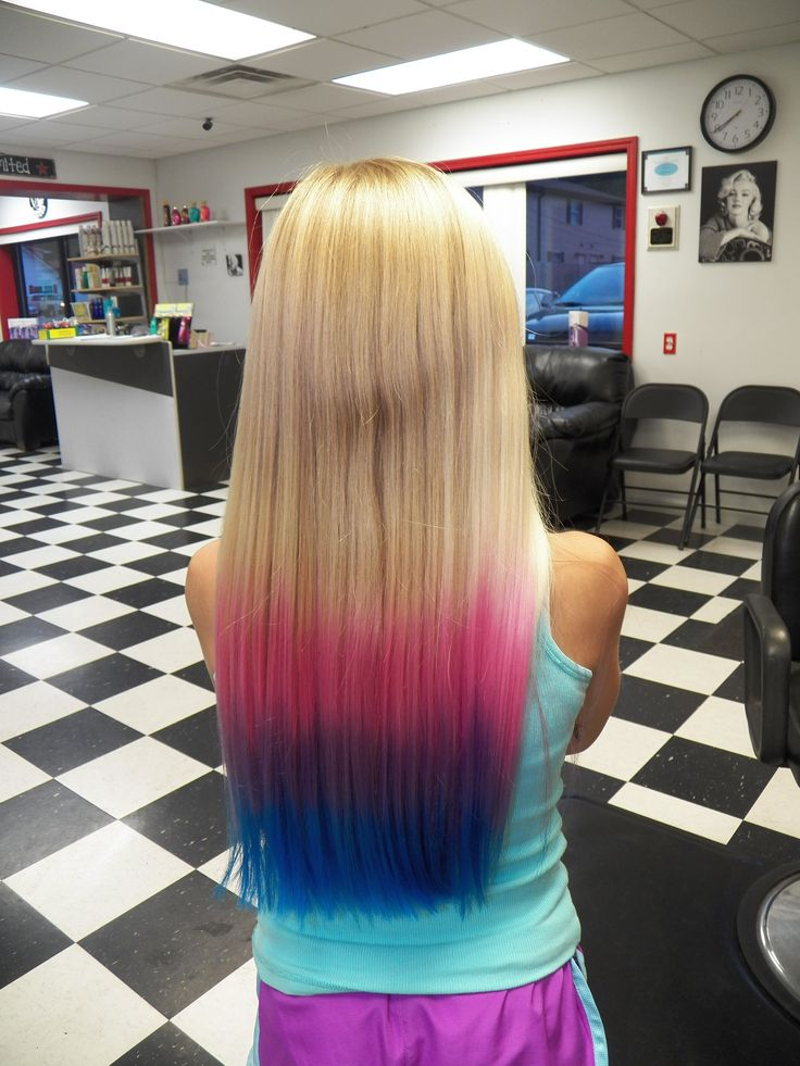 Pink Purple And Blue Ombre Can I Get This H Ir D