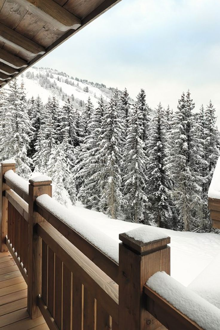 Views from the chalet at L'Apogee  Courchevel, France