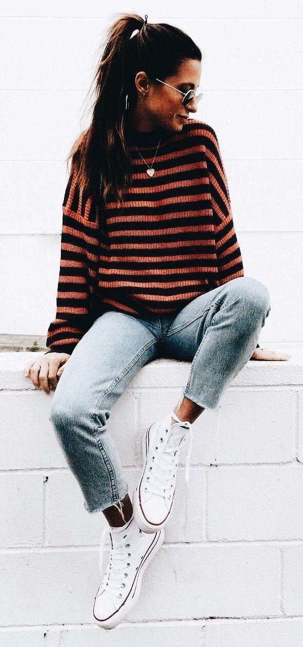 Stripes + chucks.