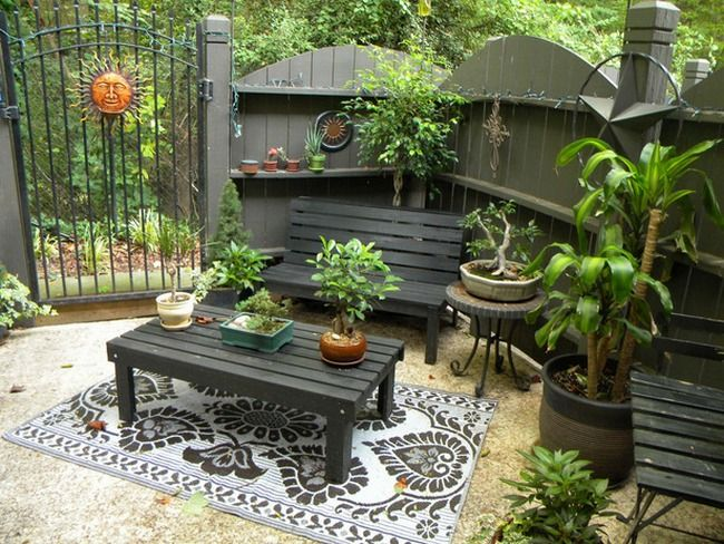 107 best back patio images on pinterest | patio fence, garden ... - Small Patio Ideas On A Budget