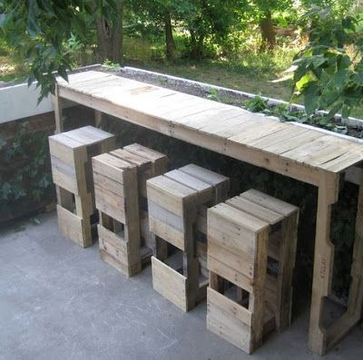 Easy Homesteading: Pallet Bar/Table DIY And I just finished making a patio bar out of a pallet!
