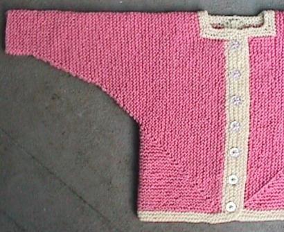 Free Mitred U Baby Jacket Pattern