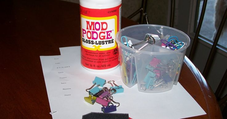 My husband thinks I've lost it. He came in last night and saw me applying Mod Podge to binder clips, shook his head and walked out. Haha! I ...