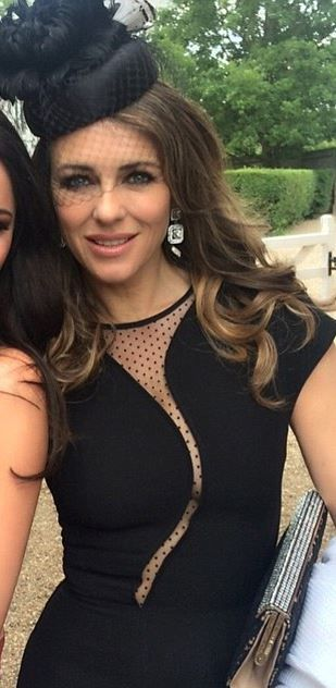 Elizabeth Hurley in Victoria Beckham Collection