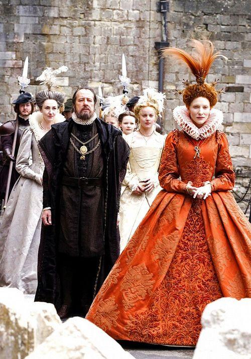 Geoffrey Rush & Cate Blanchett in Elizabeth: The Golden Age