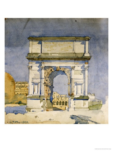 Arch of Titus by Charles Rennie Mackintosh, 1891.