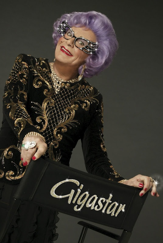 Dame Edna Everage  Dame Edna is a character created and played by Australian dadaist performer and comedian, Barry Humphries. Linked to Wikipedia