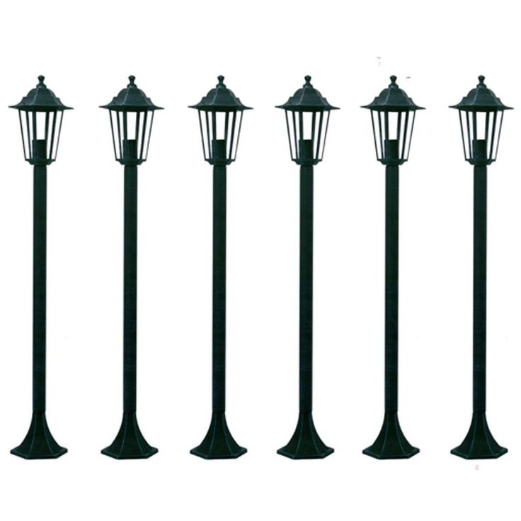 Patio Home Lighting Outdoors Garden Light 2 Lamps Post Porch Yard 6 Pieces Green #PatioHomeLighting