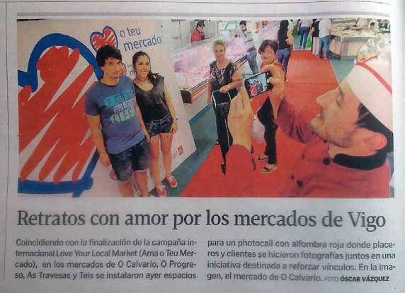 Newspaper article from Galicia, Spain