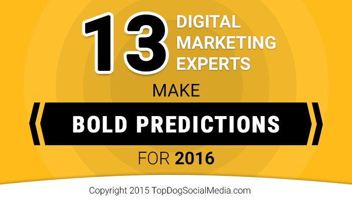 13 Digital Marketing Experts Make Bold Predictions for 2016