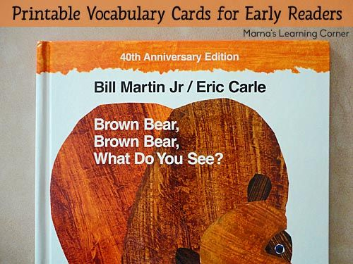 Brown Bear, Brown Bear, What Do You See? Reading Cards ...