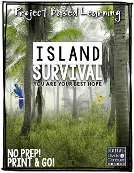 Project Based Learning: Island Survival.  Can your students survive on an deserted island? Could you?