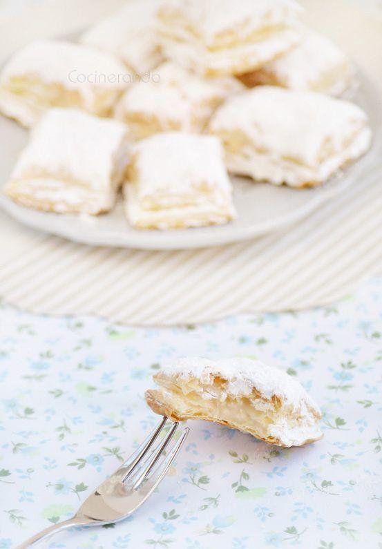 Miguelitos,+pasteles+de+hojaldre+y+crema