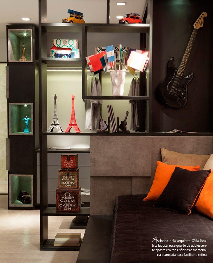 Se as crianças às vezes são difíceis de agradar, que dirá os adolescentes. Nessa fase complicada, o dormitório se transforma em refúgio, ou melhor, universo particular. É justamente por isso que o espaço precisa sofrer uma revolução decorativa: os enfeites temáticos saem de cena, assim como o excesso de cores, dando lugar a móveis …