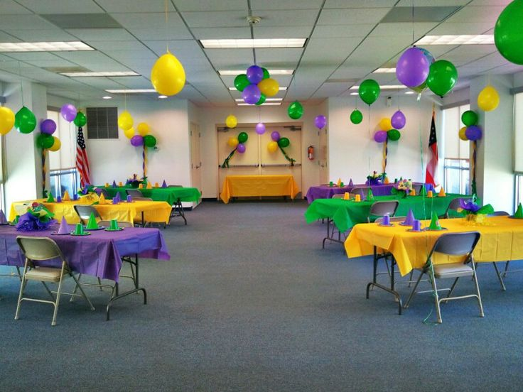 Barney party set up