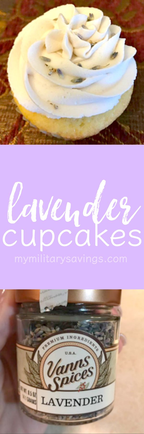 How to make lavender cupcakes! Eating flowers is all the rage these days! Add this to your delicious dessert recipes board!
