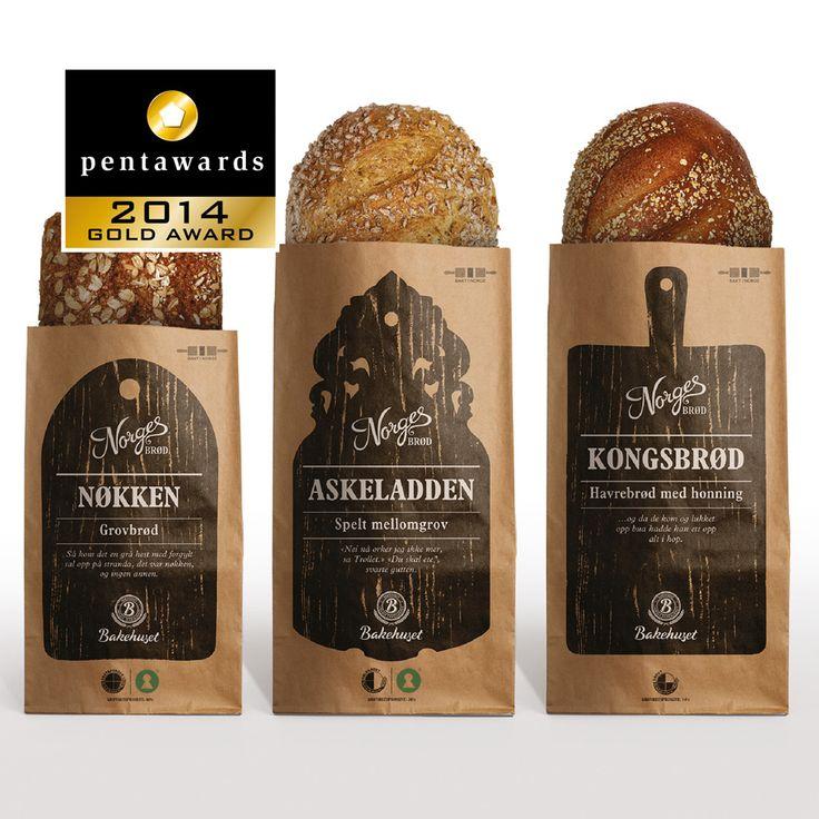 Gold Pentaward 2014 Food - Cereals Brand: BakehusetNorwegian Bread Entrant: Scandinavian Design Group Country: NORWAY