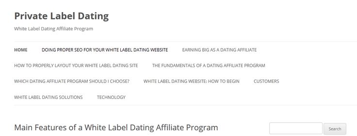 White label dating telephone number