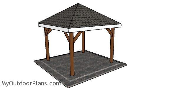 Simple 10x10 Gazebo Diy Step By Step Plans Myoutdoorplans Free Woodworking Plans And Projects Diy Shed Wooden Play In 2020 Diy Gazebo Gazebo Plans 10x10 Gazebo