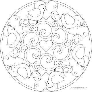 Mandala oiseau de couleur 892  coloriage à imprimer