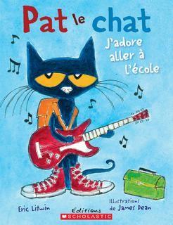 Pat le chat j'adore aller à l'école