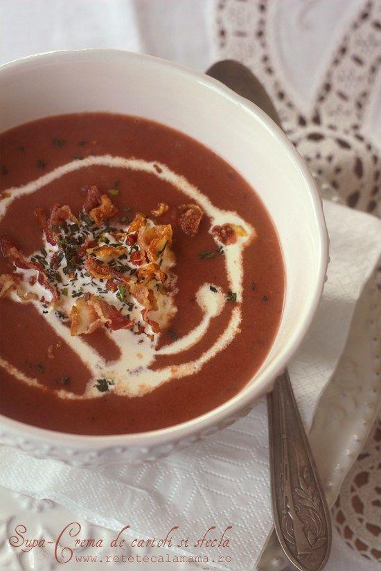 supa crema de cartofi si sfecla 1