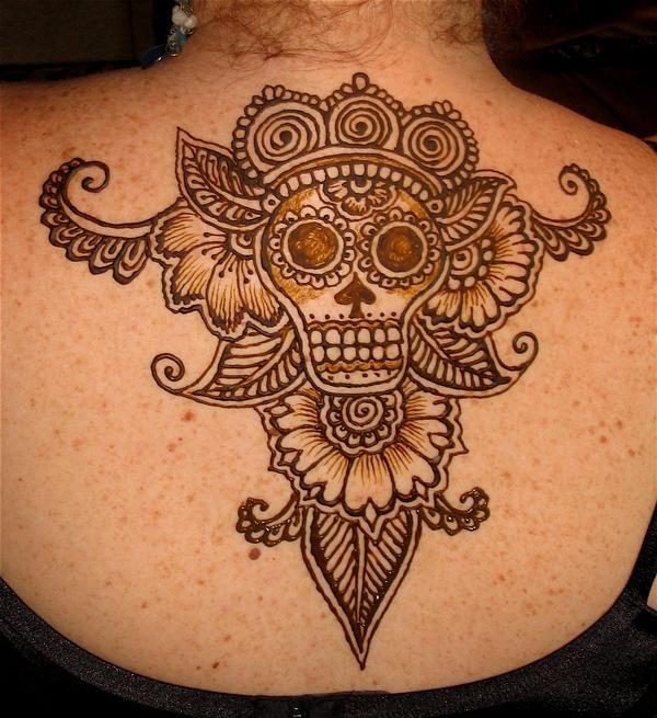 Skull Henna Tattoo: 8 Best Day Of The Dead Henna Images On Pinterest