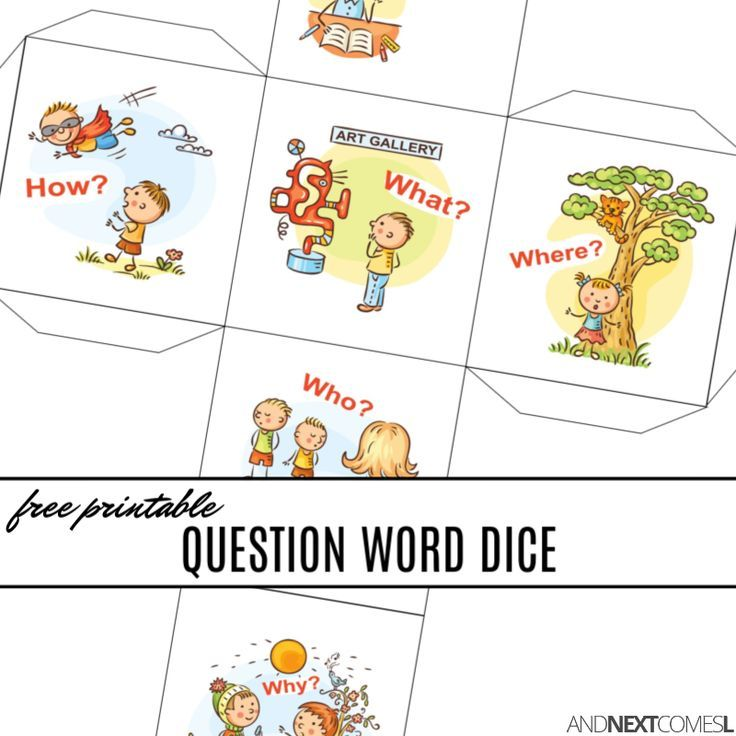 Free Printable Wh Question Words Dice Question Words This Or That Questions Free Speech Activities Wh questions worksheets