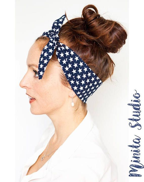 Star-Spangled Banner Headband Blue Headband with White Stars